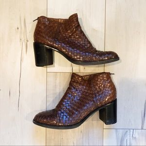 Vintage Cole Haan woven boots